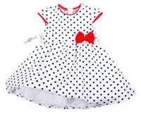 Rockabilly Wonderful Dress Petticoat Polkadotted 86 92 98 104 110 116 122