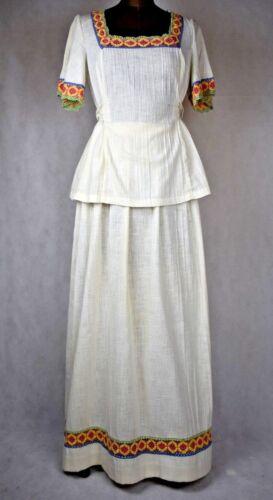 true Vintage 1960s cheesecloth hippy boho 2 piece