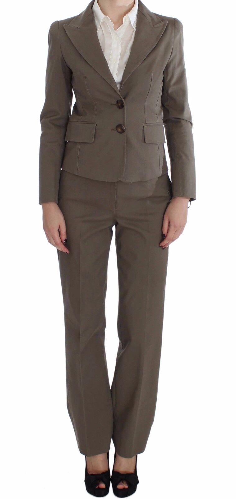 NEW  660 BENCIVENGA Suit Blazer Pants Set Beige Wool Cotton s. IT40   US6   S