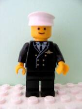 LEGO Minifig air013 @@ Airport - Pilot, Black Legs, White Hat - 6377