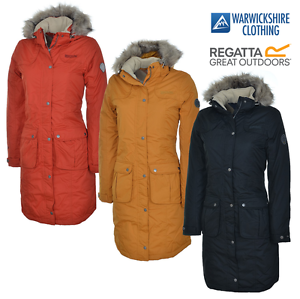 Regatta-Lillier-Ladies-Parka-Jacket-Waterproof-Breathable-Insulated-Long-Coat