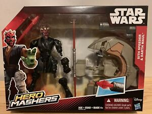 Star-Wars-Hero-Mashers-Sith-Speeder-with-Darth-Maul-6-034-Figure