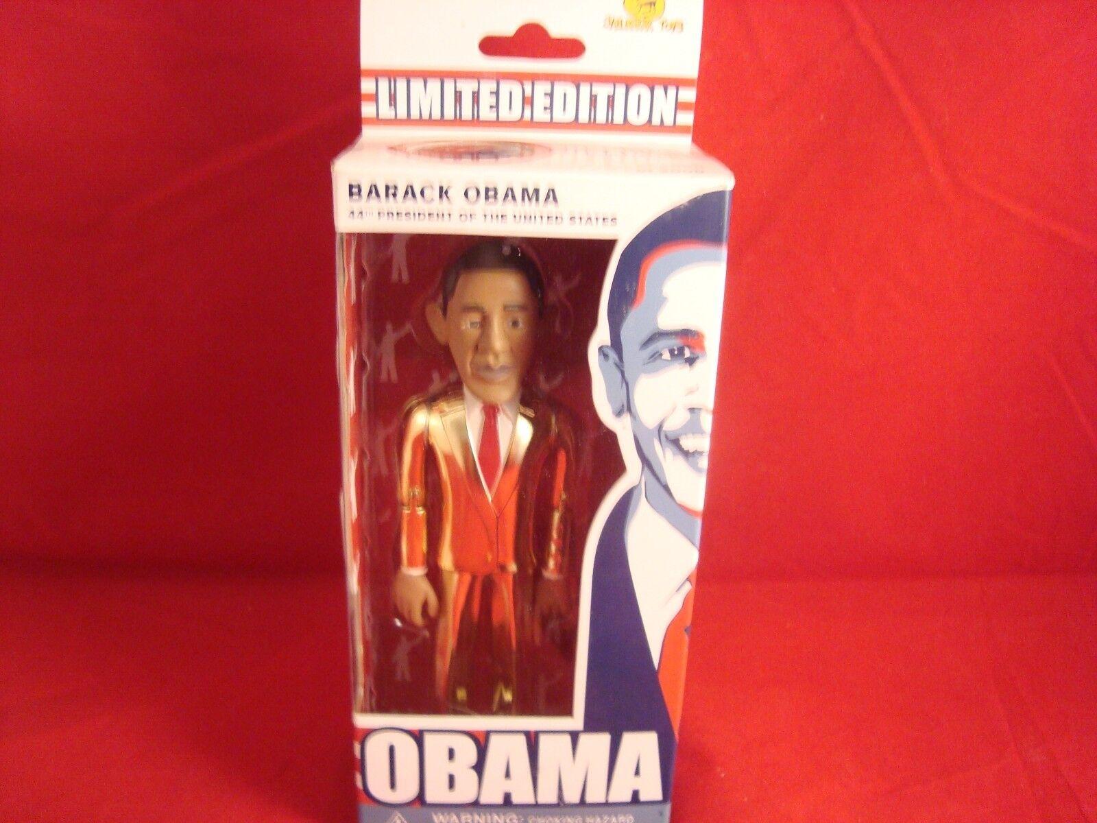 Barack Obama-Edición Limitada de 3000-Numerada -- oro suitjailhouse TOYS - 2008 rara -  nuevo