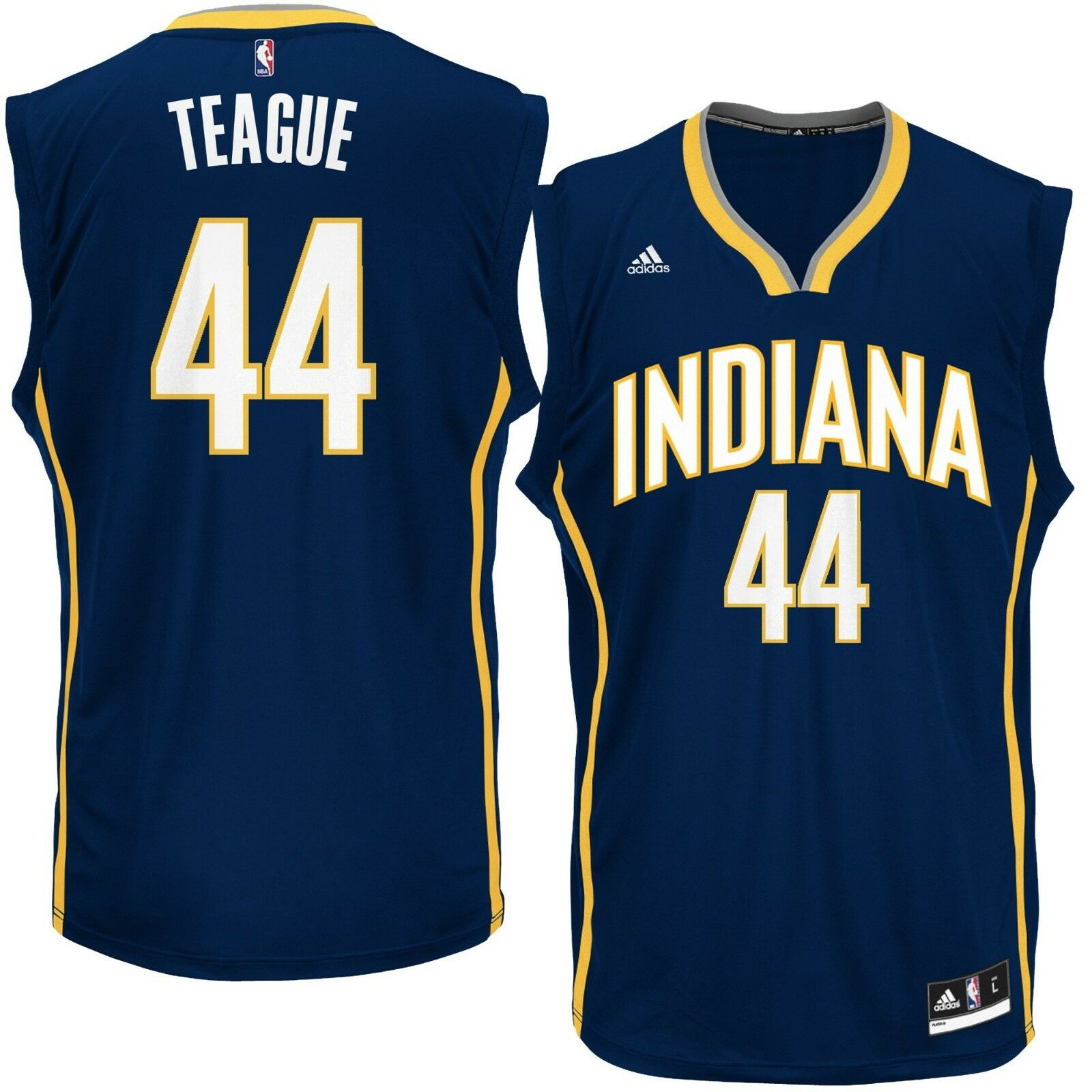 % Genuine Jeff Teague Indiana Pacers adidas Replica Jersey - Navy