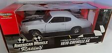 ERTL 1/18 American Muscle Racing 1970 Chevy Chevelle SS 454 WHITE 33695 cowl NEW
