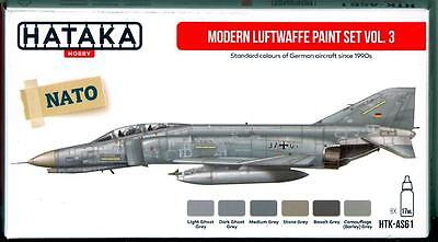 Hataka Hobby Paints MODERN LUFTWAFFE GERMAN AIR FORCE COLORS #3 Acrylic Paints