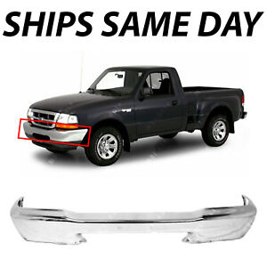 NEW Chrome - Steel Front Bumper Face Bar for 1998 1999 2000 Ford Ranger Truck 72365006331