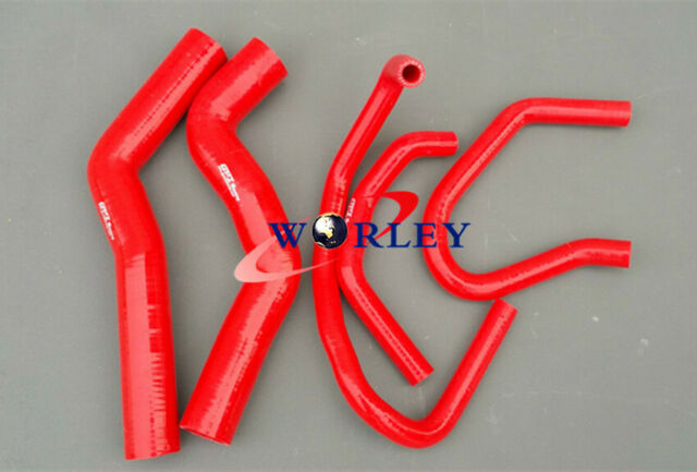 silicone radiator heater hose for Prado KZJ120 KZJ120R 3.0TDi 1KZ-TE 03-07 Red