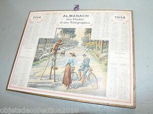 Calendrier Poste.Details Sur Ancien Almanach Calendrier De La Poste Xixe 1914 Postes Telegraphes Collection