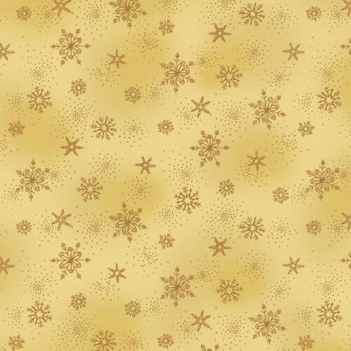Demi-Mètre Longueur étonnante étoiles de Noël Imprimer Tissu 100/% coton 4594-207