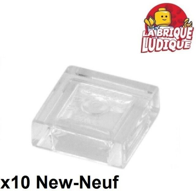 Lego - 10x Tile Plate Smooth 1x1 with Groove Clear Trans 3070b New