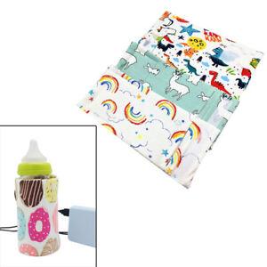 Tragbare flaschenwärmer heizung reise baby kinder milch wasser abdeckung be B5Q8