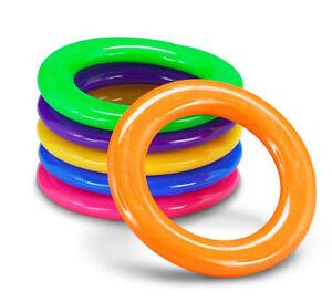 24 carnival cane rings soda bottle toss game plastic school circus