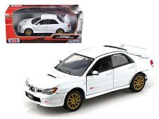 Subaru Impreza WRX STi White 1/24 Scale Diecast Car Model By Motor Max 73330