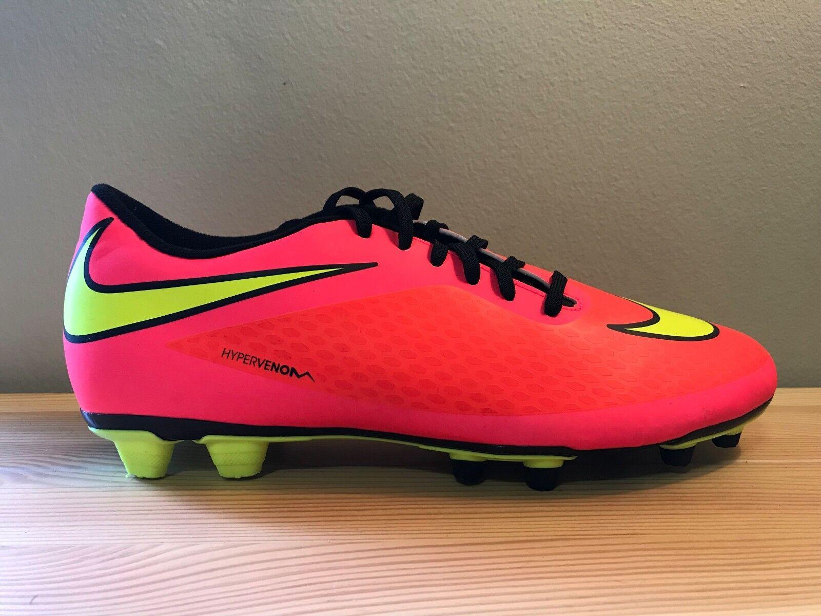 Nike Hypervenom Phade FG Orange Neon Soccer-Cleats 599809-690 Men's Size 11.5
