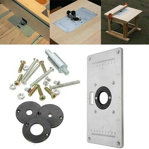 Aluminum Alloy Router Table Plate for Woodworking benches NEW