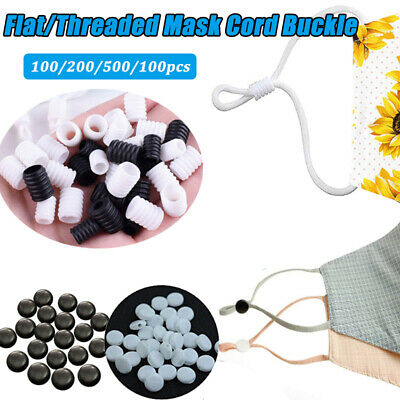 100 100pcs Non Slip Silicone Cord Locks Mask Drawstrings Elastic