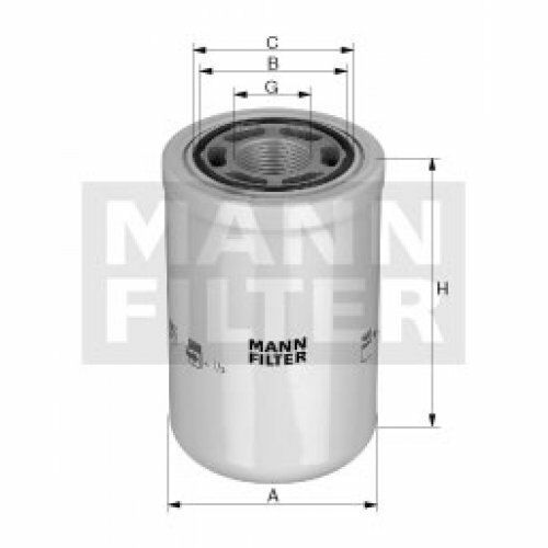 operating hydraulics WH 1257//1 MANN-FILTER Filter