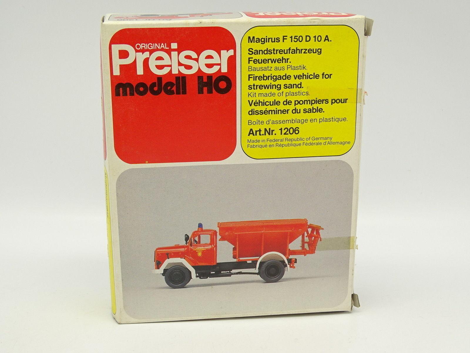 cómodo Preiser set set set para armar 1 87 ho-Magirus f150 d10a bomberos Blaster  Entrega gratuita y rápida disponible.