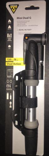 Topeak Mini Dual G 120psi// 8bar Mini Pump With Pressure Gauge