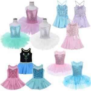 08ef60a0ad03 Ballet Leotard Tutu Skirt Girls Kid Toddler Princess Dress Up Dance ...