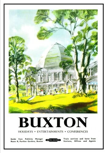 Buxton E Adventure Travel Holiday Beautiful View Poster  Derbyshire Advert