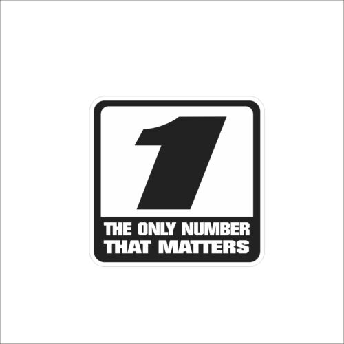 The Only Numbers1 3M Vinyl Hard Hat Sticker Decal Motorcycle Car Body Decor