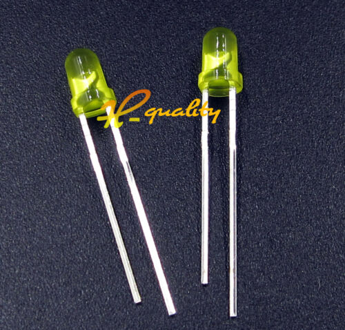 200PCS Diffused LED 3MM YELLOW COLOR YELLOW LIGHT Super Bright GOOD QUALITY