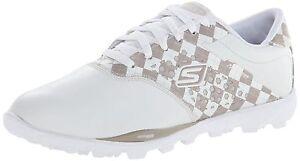 Skechers-Performance-Ladies-Go-Golf-Shoes-Waterproof-Upper-Whit-Beige-3-8-1-2s