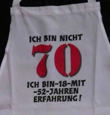 Nicht 70 Schürze Für Erwachsene Geburtstag Scherzartikel Grill Koch Gag