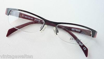 Rispettoso Nero-occhiali Rossi Senza Bordo Sotto Stretto Prezzo Valore Montatura Misura M-mostra Il Titolo Originale