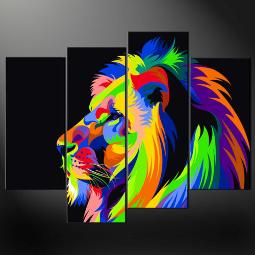 ABSTRACT LION CANVAS PRINT PICTURE WALL ART FREE UK POSTAGE VARIETY OF SIZES