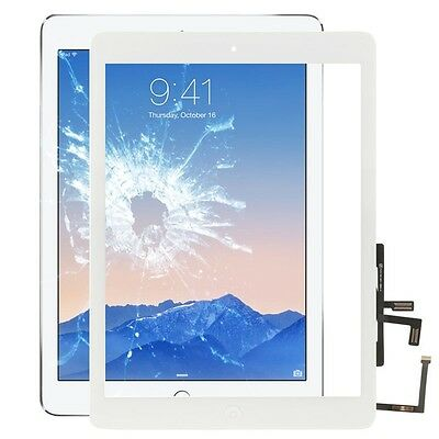 Instancabile Apple Ipad Air Display Vetro Display Touch Screen Home Button Screen Vetro Bianco-
