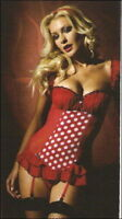 Ann Summers Roulette Suspender Cami & Thong Sz 10-12 In Stock