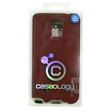 Caseology Bumper Frame Phone Case Leather Burgundy Red For Samsung Galaxy Note 4