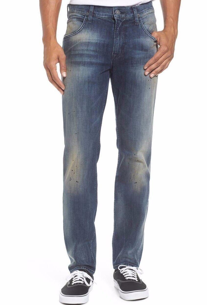 Nwt Hudson Jeans Sz33 Blake Schmal Gerade Stretch Jeans Babylon