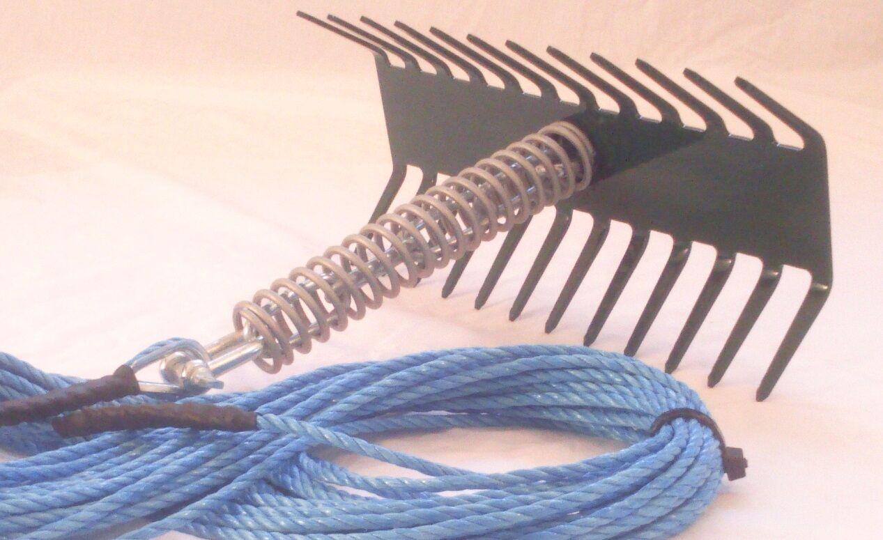 Rastrillo de malezas Estanque 12  Enganches Dodger & 20 metros de cuerda