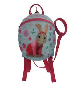 Peter-Rabbit-Maedchen-Lilie-Bobtail-Blau-amp-Pink-Parental-Kontrolle-Rucksack-Alter
