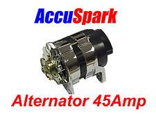 Accuspark 45Amp Chrome 18ACR Alternator MG,Triumph,Ford,Reliant,Mini + Many more