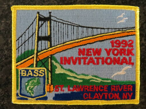 Rare Vintage Bassmaster Tournament Patch 1992 New York Invitational