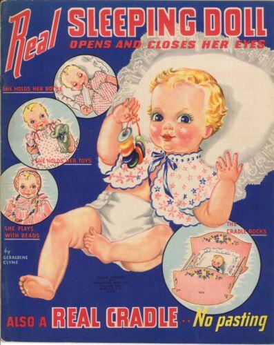 VINTGE 1939 REAL SLEEPING PAPER DOLL LASR REPRODUCTIN~UNCT LO PR NO1 SELLR