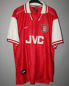 new arrival b29a1 6340f Details about ARSENAL LONDON 1996 1997 1998 NIKE HOME FOOTBALL SOCCER SHIRT  JERSEY CAMISETA