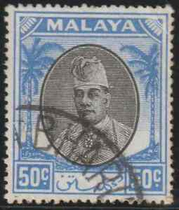 MALAYSIA-MALAYA-KELANTAN-19451-50c-USED-CAT-RM-3