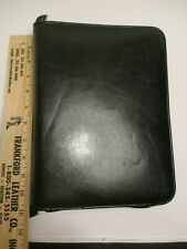 Day Timer Classic Desk Zippered Faux Leather Planner Binder Organizer Black