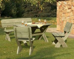 4 Tlg Sitzgruppe Garnitur Gartenmobel Set Aus Massivholz Ebay