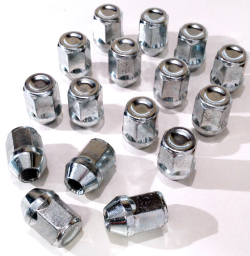 Set of 16 x M12 x 1.25 21mm Hex wheel nuts lugs bolts for Nissan Cars