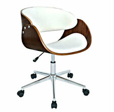 Wooden Swivel Desk Chair Retro Office Diner Vintage Drafting Guest Modern Seat