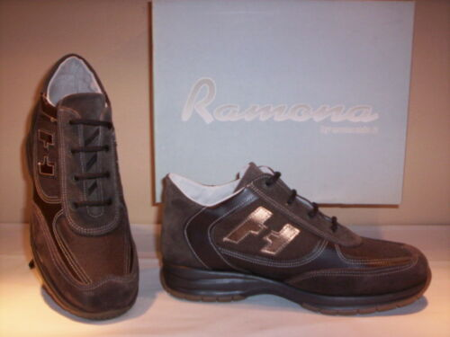 Scarpe sportive sneakers Ramona donna bambino shoes casual pelle marroni 37 38