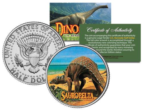 SAUROPELTA Colorized Coin JFK Kennedy Half Dollar U.S Collectible Dinosaur