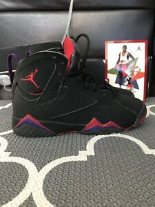 new styles 204af d884e Details about Air Jordan 7 Retro Raptor Black Charcoal True Red 3.5Y 3.5  NIB Raptors 3.5 Youth